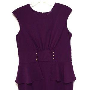 Shelby & Palmer Dresses - Shelby & Palmer Purple Peplum Sheath Dress